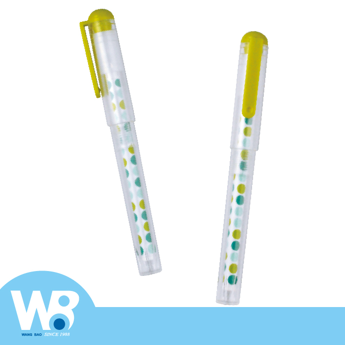 Color Dot Dot Transparent Tube Ball Pen